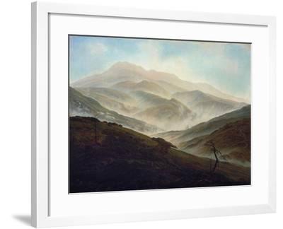 Riesengebirgslandschaft Mit Aufsteigendem Nebel, um 1820/1821-Caspar David Friedrich-Framed Giclee Print