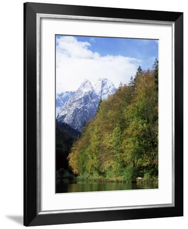 Riessersee and Wetterstein Mountains, Garmisch-Partenkirchen, German Alps, Germany, Europe-Jochen Schlenker-Framed Photographic Print