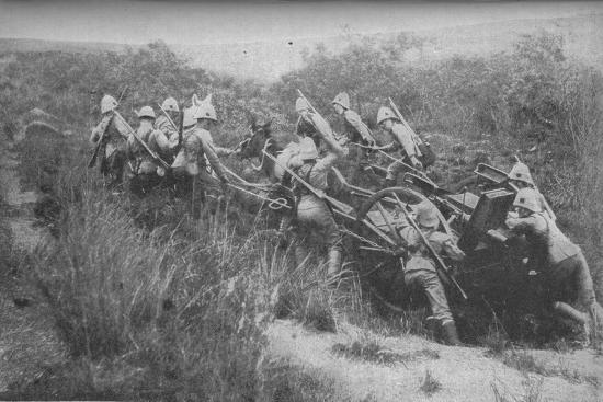 'Rifle Brigade Practising Hill Climbing with Maxim', 1902-Unknown-Photographic Print