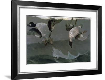 Right and Left, 1909-Winslow Homer-Framed Giclee Print