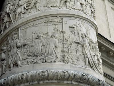 Right Column with Reliefs Depicting Scenes from the Life of Saint Charles Borromeo--Giclee Print