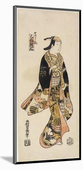 Right: in the Style of an Actor, C. 1730-Nishimura Shigenaga-Mounted Premium Giclee Print