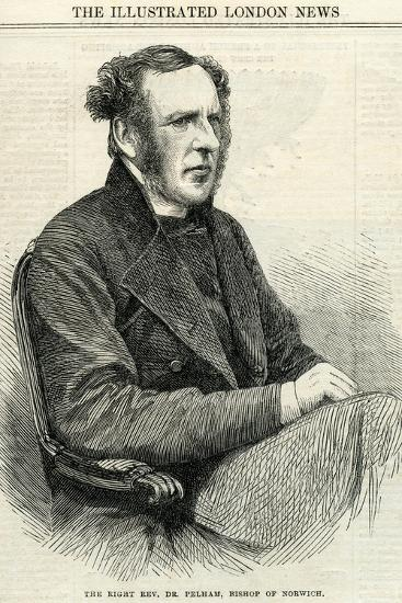 Right Rev Dr Pelham, Bishop of Norwich from 'The Illustrated London News' October 14Th, 1865--Giclee Print