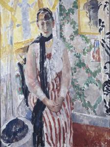 Portrait de madame Moreau Wouters by Rik Wouters
