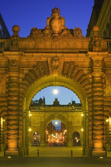 Riksdagshuset Arches in Gamla Stan-Jon Hicks-Photographic Print