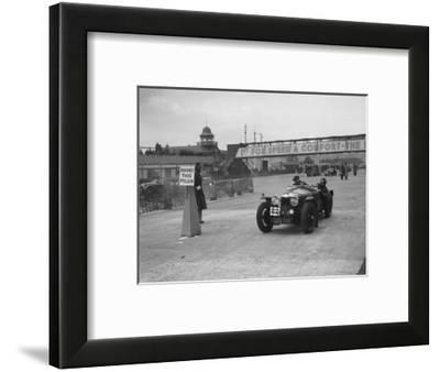 Riley Sprite competing in the JCC Rally, Brooklands, Surrey, 1939-Bill Brunell-Framed Photographic Print