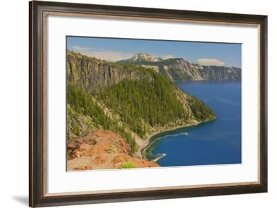 Rim, Crater Lake, Crater Lake National Park, Oregon, USA-Michel Hersen-Framed Photographic Print