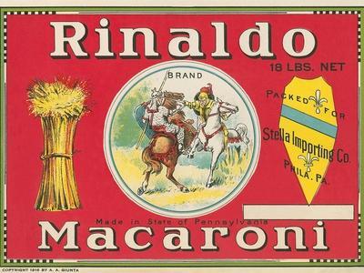 Rinaldo Macaroni Label--Art Print