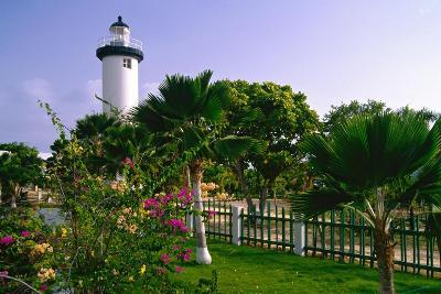 Rincon Lighthouse and Garden, Puerto Rico-George Oze-Photographic Print