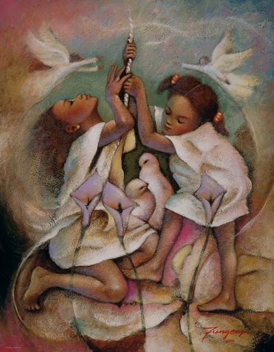 Ringbell Heaven-Essud Fungcap-Art Print