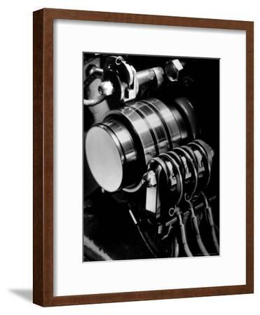 Ringing Machine that Governs the Ringing Bell in Telephones at NY Telephone Exchange Terminal-Margaret Bourke-White-Framed Premium Photographic Print