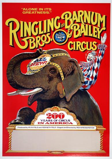 Ringling Bros (200 Years)--Collectable Print