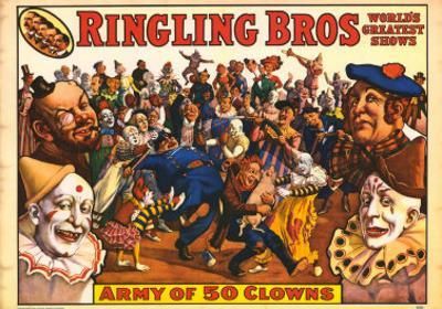 Ringling Bros - Army of 50 Clowns, 1960