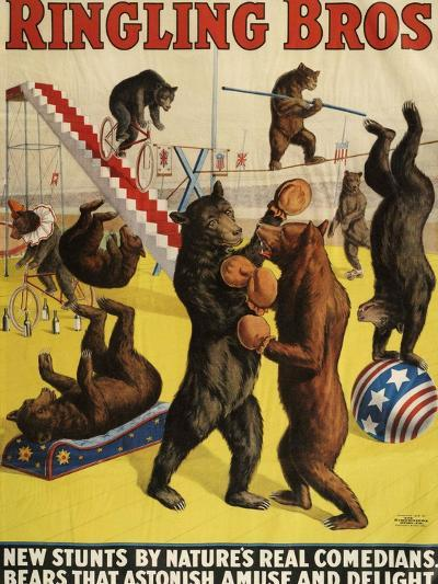 Ringling Bros, Poster, 1900--Giclee Print