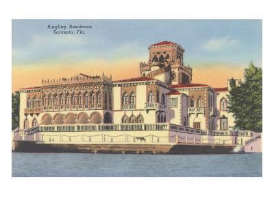 Ringling Mansion, Sarasota, Florida--Art Print