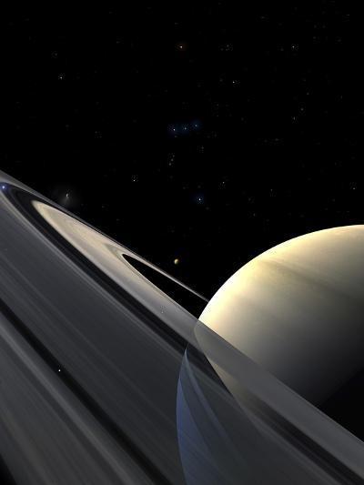 Rings of Saturn-Stocktrek Images-Photographic Print
