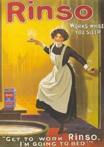Rinso, Washing Powder Maids Products Detergent, UK, 1910
