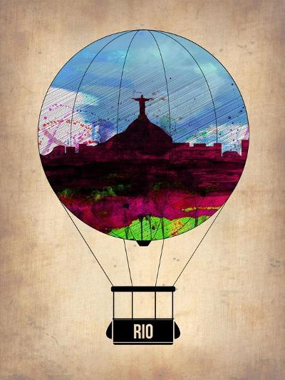 Rio Air Balloon-NaxArt-Art Print