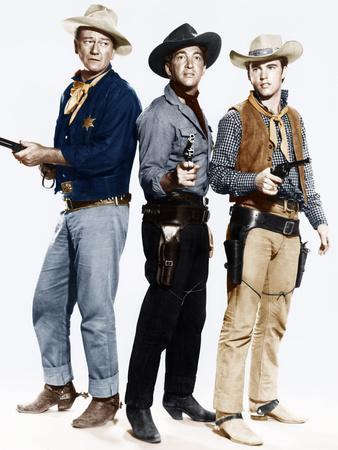 RIO BRAVO, from left: John Wayne, Dean Martin, Ricky ...