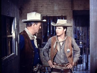 Rio Bravo, from Left: John Wayne, Ricky Nelson, 1959--Photo