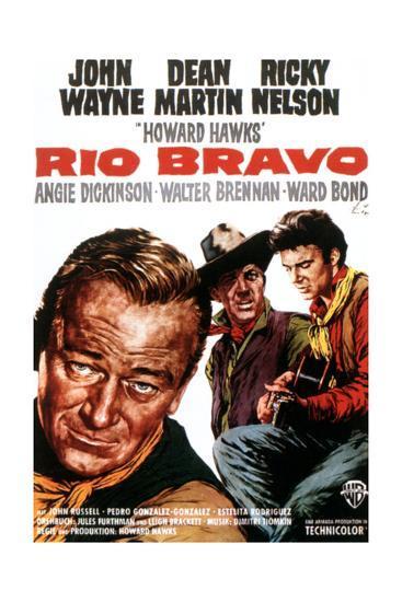 Rio Bravo, John Wayne, Dean Martin, Ricky Nelson, 1959--Giclee Print
