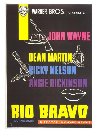 Rio Bravo, Spanish Movie Poster, 1959--Art Print