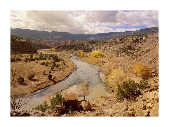 Rio Chama in autumn, New Mexico-Tim Fitzharris-Art Print