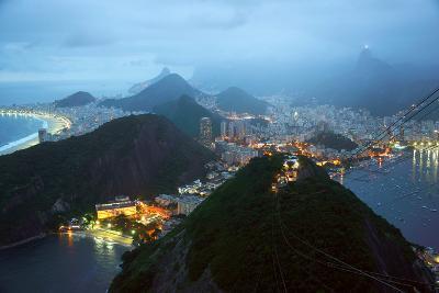 Rio De Janeiro By Night, Brazil-xura-Photographic Print