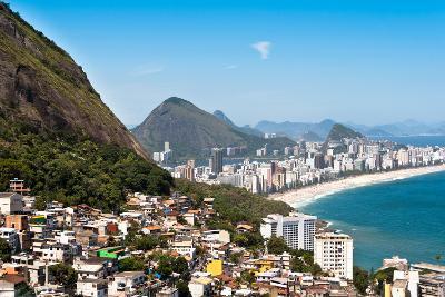 Rio De Janeiro Favela and Ipanema Beach View-dabldy-Photographic Print