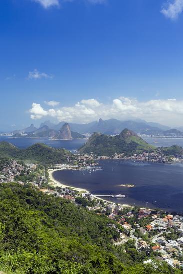 Rio De Janeiro from Niteroi, Rio De Janeiro, Brazil, South America-Alex Robinson-Photographic Print