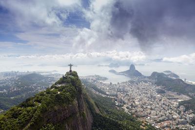 Rio De Janeiro Landscape Showing Corcovado, the Christ and the Sugar Loaf, Rio De Janeiro, Brazil-Alex Robinson-Photographic Print