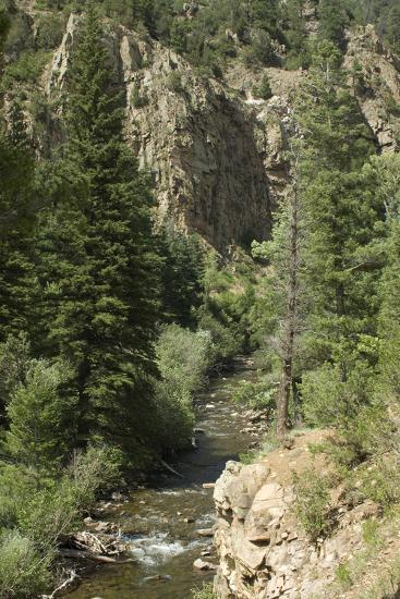 Rio Del Pueblo in the Sangre De Cristo Mountains, New Mexico--Photographic Print