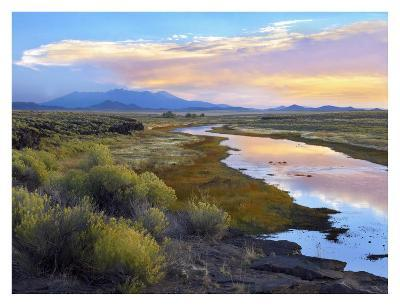 Rio Grande and the Sangre de Cristo Mountains, Colorado-Tim Fitzharris-Art Print