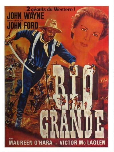 Rio Grande, French Movie Poster, 1950--Art Print