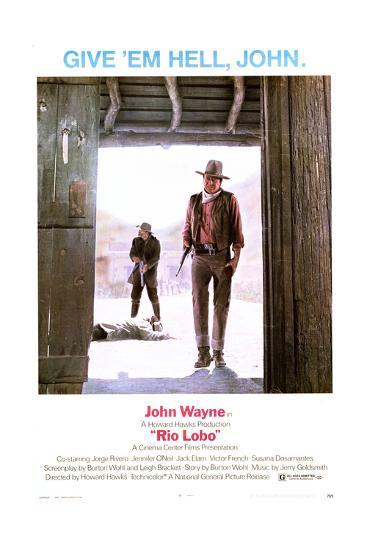Rio Lobo - Movie Poster Reproduction--Art Print