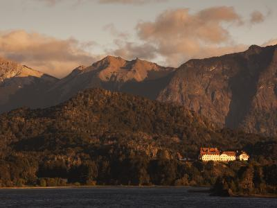 Rio Negro Province, Lake District, Llao Llao, Hotel Llao Llao and Lake Nahuel Huapi, Argentina-Walter Bibikow-Photographic Print