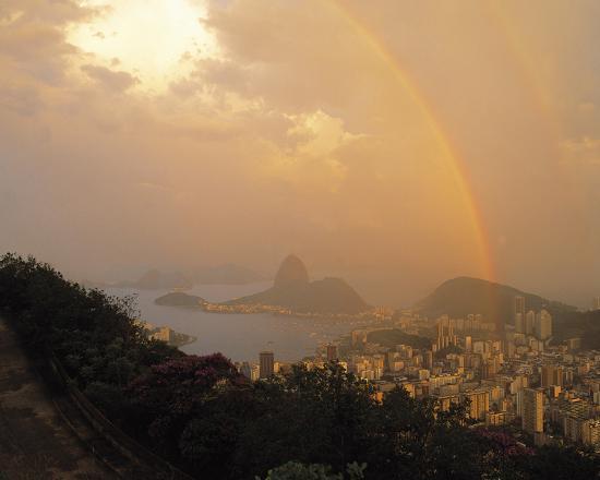 Rio Rainbow-Bent Rej-Giclee Print