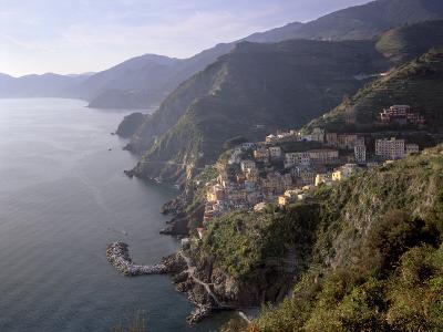 Riomaggiore, Traditional Fishing Village, and Coastline of Cinque Terre, Liguria, Italy-Patrick Dieudonne-Photographic Print