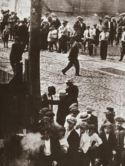 Riot during a strike by Standard Oil workers, Bayonne, New Jersey, USA, 1915-Unknown-Photographic Print