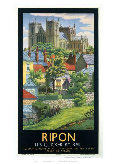 Ripon Black Frame--Giclee Print