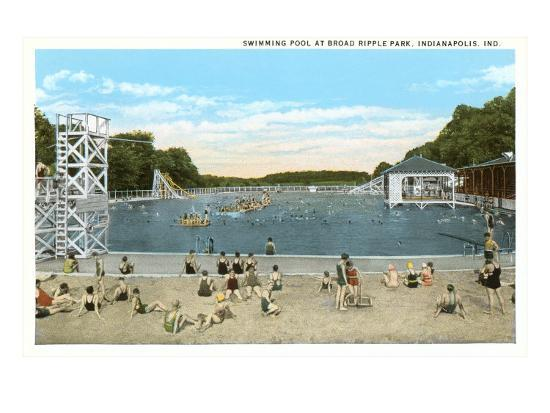 Ripple Park, Indianapolis, Indiana--Art Print