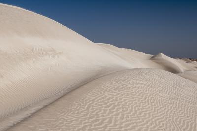 Rippled White Sand Dunes of the Khaluf Desert-Sergio Pitamitz-Photographic Print