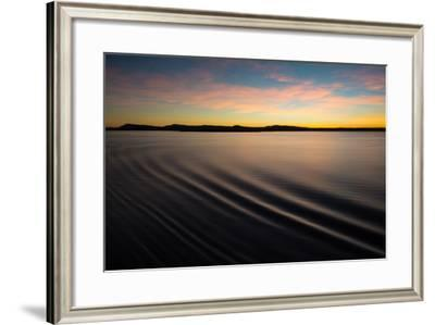 Ripples in the Calm Water at Dawn Along the Kimberley Coast-Michael Melford-Framed Photographic Print