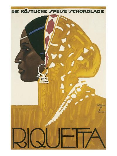 Riquetta Schkolade-Ludwig Hohlwein-Premium Giclee Print