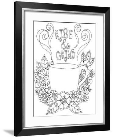 Rise & Grind-Hello Angel-Framed Giclee Print