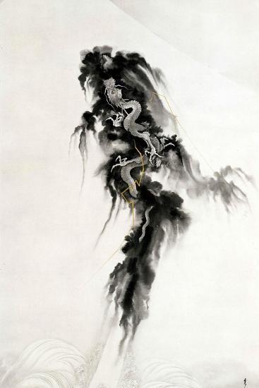 Rising Dragon and Mt Fuji-Suzuki Kiitsu-Giclee Print