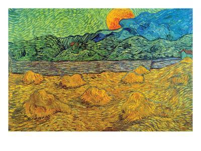 Rising Moon-Vincent van Gogh-Art Print
