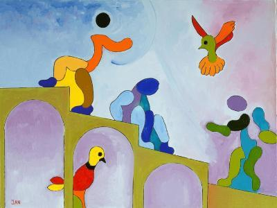 Rising Up to Where We Came From, 2009-Jan Groneberg-Giclee Print