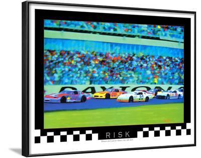Risk: Auto Racing-Richard M. Swiatlowski-Lamina Framed Art Print