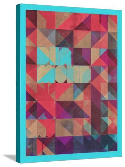 Risograph #1 Diamond-Spires-Stretched Canvas Print